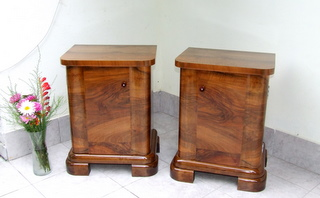 Pair of Art Deco Bedside Cabinets.