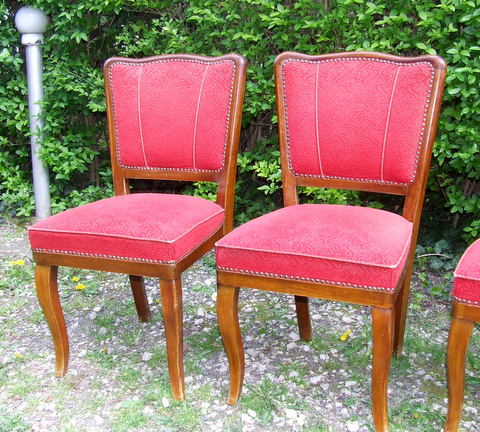 Art Deco dining chairs.