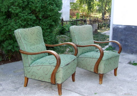 Art Deco Club Chairs or Armchairs from Hungary4deco.