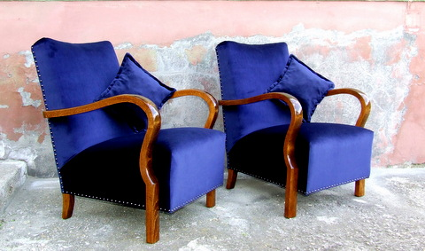 Art Deco Armchairs.