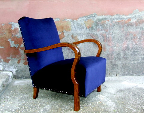 Pair of Art Deco Velvet Armchairs.