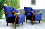 1920s Art Deco Armchairs.