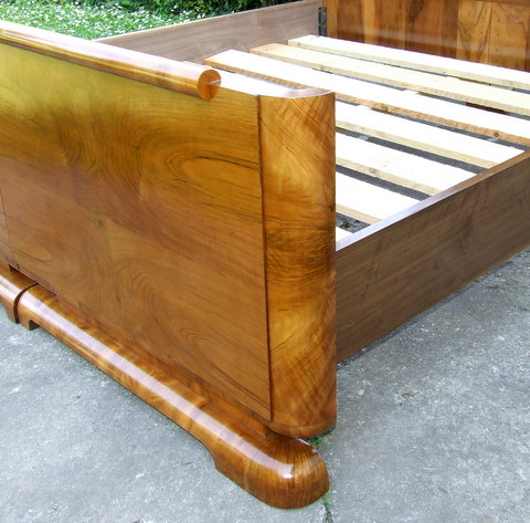 Art Deco double bed frame.