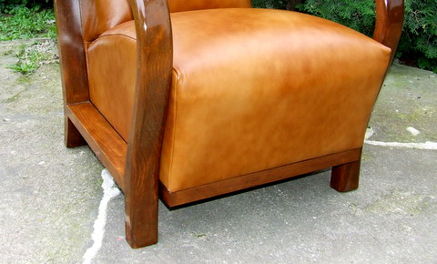 Art Deco leather armchair for sale UK.