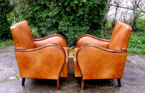 Art Deco club chairs.
