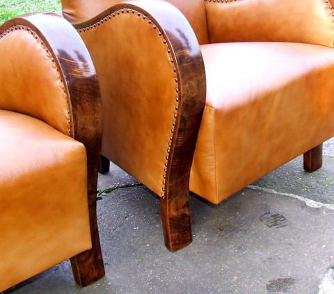 Art Deco walnut furniture.