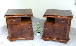 Pair of Art Deco Nightstands.